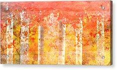 Autumn Aspens Acrylic Print by Brett Pfister