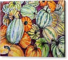 Autumn At Beth's Farmstand Acrylic Print by Gloria Avner