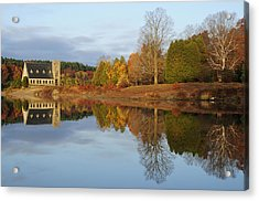 Autumn At The Old Stone Church Acrylic Print by Luke Moore