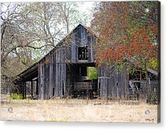 Autumn Barn Acrylic Print by Lisa Moore