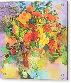 Autumn Flowers  Acrylic Print by Claire Spencer