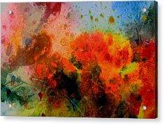 Autumn Garden Acrylic Print by Anne Duke
