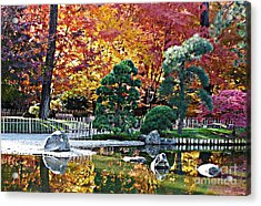 Autumn Glow In Manito Park Acrylic Print by Carol Groenen