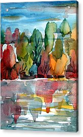 Autumn Glows Acrylic Print by Mindy Newman