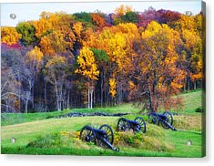 Autumn Guns Acrylic Print by Bill Cannon