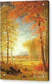 Autumn In America Acrylic Print by Albert Bierstadt