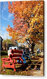 Autumn In Metamora Indiana Acrylic Print by Mel Steinhauer