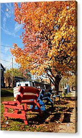 Autumn In Metamora Indiana Acrylic Print by Tri State Art