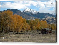 Autumn In Montana's Madison Valley Acrylic Print by Bruce Gourley