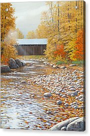 Autumn In New England Acrylic Print by Jake Vandenbrink