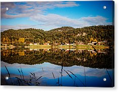 Autumn In Norway Acrylic Print by Mirra Photography