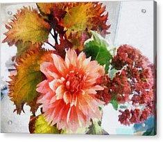 Autumn Joy Acrylic Print by Michelle Calkins