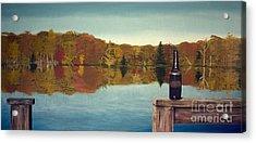 Autumn Lake Acrylic Print by Lee Alexander