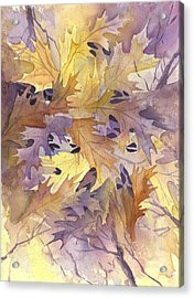 Autumn Leaves Acrylic Print by Gladys Folkers