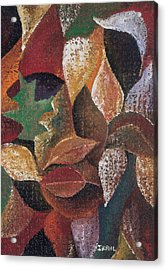 Autumn Leaves Acrylic Print by Ikahl Beckford
