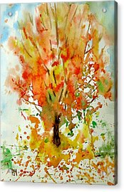 Autumn Leaves Acrylic Print by Pete Maier