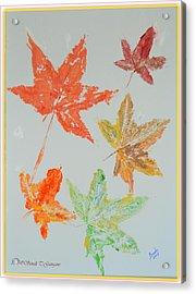 Autumn Leaves Acrylic Print by Sonali Gangane