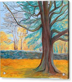 Autumn On The Preserve Acrylic Print by Paula Emery