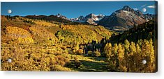 Autumn Panorama Acrylic Print by Andrew Soundarajan