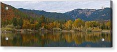 Autumn Panorama Acrylic Print by Loree Johnson