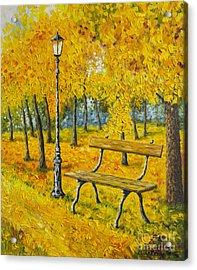 Autumn Park Acrylic Print by Veikko Suikkanen