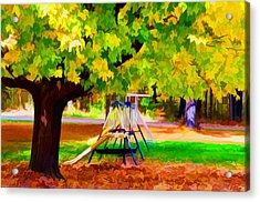 Autumn Playground 1 Acrylic Print by Lanjee Chee