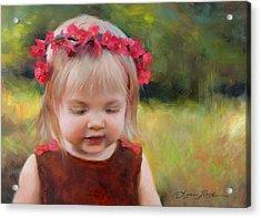 Autumn Princess Acrylic Print by Anna Rose Bain