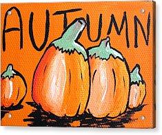 Autumn Pumpkins Acrylic Print by Jera Sky