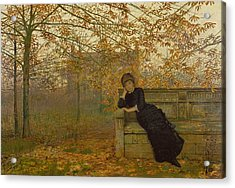 Autumn Regrets Acrylic Print by John Atkinson Grimshaw