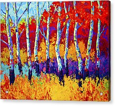 Autumn Riches Acrylic Print by Marion Rose