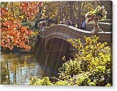 Autumn Sun Rays Acrylic Print by Allan Einhorn