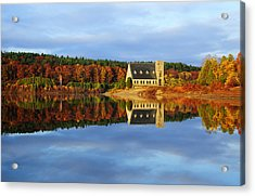 Autumn Sunrise At Wachusett Reservoir Acrylic Print by Luke Moore