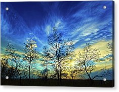 Autumn Sunset Acrylic Print by ABeautifulSky Photography