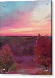 Autumn Sunset Acrylic Print by Adam Rendaci