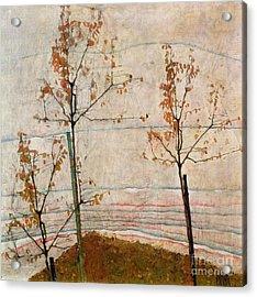 Autumn Trees Acrylic Print by Egon Schiele