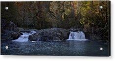 Autumn Waterfall  Acrylic Print by Ellen Heaverlo