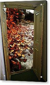 Autumn's Door Acrylic Print by Nahid Nobari