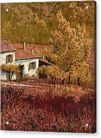 Autunno Rosso Acrylic Print by Guido Borelli
