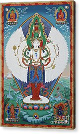 Avalokiteshvara Lord Of Compassion Acrylic Print by Sergey Noskov
