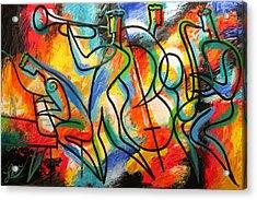 Avant-garde Jazz Acrylic Print by Leon Zernitsky
