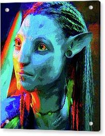 Avatar - Free Style Over Oil Canvas Acrylic Print by Leonardo Digenio