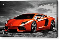 Aventador Acrylic Print by Peter Chilelli