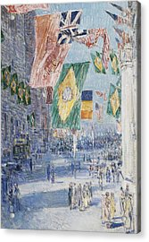 Avenue Of The Allies  Brazil  Belgium Acrylic Print by Childe Hassam
