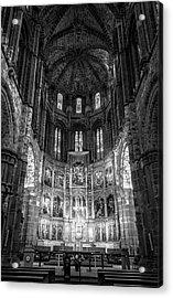 Avila Cathedral Bw Acrylic Print by Joan Carroll