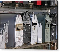 Awaiting Mail Also Acrylic Print by Diane Greco-Lesser