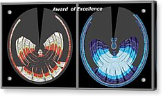 Award Of Excellence Graphic Signature Art By Navin Joshi Acrylic Print by Navin Joshi