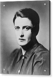 Ayn Rand 1905-1982 Russian Born Acrylic Print by Everett