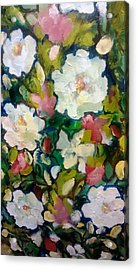 Azaleas And Roses Together Acrylic Print by Patricia Taylor