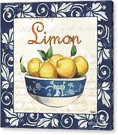 Azure Lemon 3 Acrylic Print by Debbie DeWitt