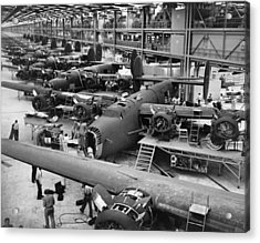 B-24 Liberator Bombers Nearing Acrylic Print by Everett